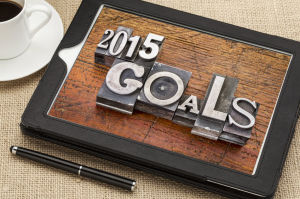 Setting your goals to make 2015 a Happy New Year.